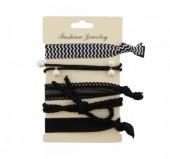 H-E15.1  Ibiza elastic bracelet - hair ribbon 6pcs H002-048