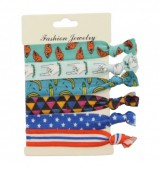 B-F12.5 Ibiza elastic bracelet - hair ribbon 6pcs
