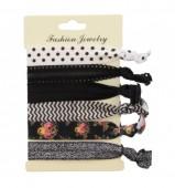 A-D20.6 Ibiza elastic bracelet - hair ribbon 6pcs