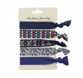 H-E17.4  Ibiza elastic bracelet - hair ribbon 6pcs H002-029