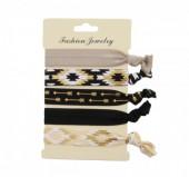 H-E21.1  Ibiza elastic bracelet - hair ribbon 6pcs H002-040