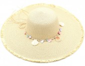 Z-E1.4 HAT315-001C Summer Hat with Shells Beige