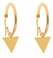 B-A3.4 E015-012SB Stainless Steel Earrings 25mm Triangle Gold