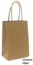 Y-C3.2 PK525-001C Paper Giftbag 17x12cm Brown 12pcs