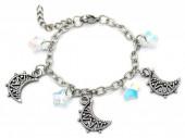 E-B5.2 B2053-001 S. Steel Bracelet Moon and Stars 14 - 17cm For Kids