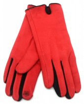 S-B8.5 GLOVE501-005F Soft Gloves Two-Tone Black-Red