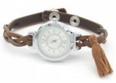 F-E9.4 W016-005 Trendy Watch with Tassel Brown