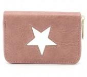 S-F7.4 WA011-006 PU Wallet with Star 13x9cm Pink