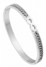 B-A16.1 Stainless Steel Bangle Infinity-Chain Silver