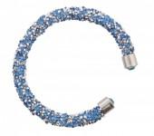 G-A18.4   Crystal Bangle Silver Blue B001ST-001