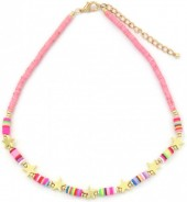 B-B3.2 N1561-0175 Necklace with Stars Multi Color