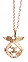 F-D3.6 Angel Catcher with Wings rose Gold 20mm