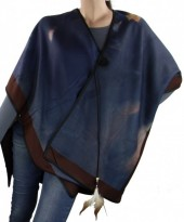 Z-G7.5 Soft Poncho with Feather