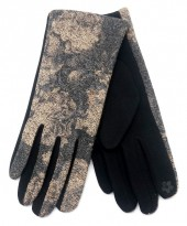 R-K7.2 GLOVE403-076D Glove Flowers Grey