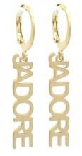 E-A4.4 E-C6.5 E220-005 S. Steel Earrings JAdore1x2.5cm Gold