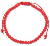 B-A2.1  B2039-012D Bracelet Faceted Glass Beads Red