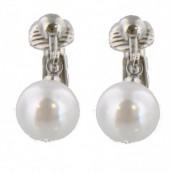 A-E17.4 E1763-002 Pearl Clip On Earrings