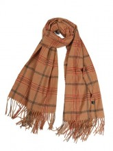 Z-A2.3 SCARF407-003A Soft Checkered Scarf 180x68cm Brown