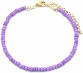 B-B5.5  B2061-001L Bracelet with Glass Beads Purple