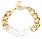 E-C3.3 B2019-013G Metal Chain Bracelet Gold