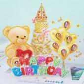 Q-I3.2  LT023 Diamond Painting Set Happy Birthday 3D Set