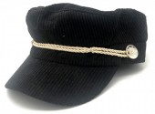 Y-F1.1 HAT402-001A Sailor Cap Rib Fabric Black