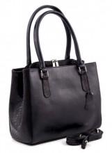 R-J1.1 Luxury Leather Bag 35x26cm Black