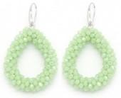 C-E4.6 E007-001 Facet Glass Beads 4.5x3.5cm Green