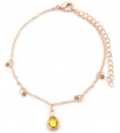 F-D18.5 B426-006 Bracelet with small Beads Rose Gold