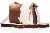 S-A7.1 Leather Cross Body Bag with Cowhide 34x26cm Mixed Colors