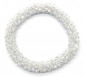 B-F8.3 B008-001A Bracelet with Faceted Glass Beads Transparant