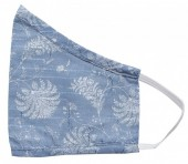 S-I6.1 Face Mask Cotton - Washable - Embroidered - Blue
