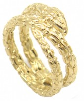 A-C18.4 R519-007G Stainless Steel Ring Snake Gold #18