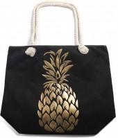 Y-F2.4 BAG530-004 Beach Bag Pineapple Gold-Black