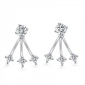 D-B24.16 925 Sterling Silver with CZ 12mmx17mm