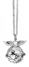 F-E2.2 Angel Catcher with Wings Silver 20mm