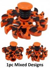 Z-F5.3 Spring With Flip Top Spinner Orange-Black Mixed Design