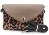T-D8.2 BAG220-001 Shoulder Bag with Leopard Print Kakhi 21,5x13x5 cm