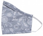 S-I5.2 Face Mask Cotton - Washable - Embroidered - Grey
