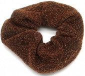 S-J7.1 H305-054B Scrunchie with Glitters Brown