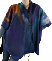Z-G4.4 Soft Poncho with Feather