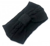 R-G6.1 H401-024A Soft Knitted Headband Black