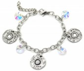 F-B6.2 B2053-002 S. Steel Bracelet  Coins 14 - 17cm For Kids