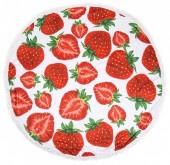 Y-E2.2 BT010-465 Roundie Beach Towel 150cm Strawberries