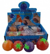 Squishy Ball Fruit 12pcs Mixed in Display
