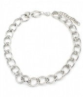 N001-008 Metal Chain Necklace Silver