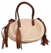 BAG119-006B Summer Bag Wicker Brown 35x27x10cm