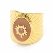 B-E14.2 R220-054G S. Steel Ring Adjustable Pink-Gold