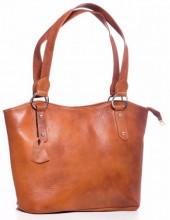 R-B1.1 BAG-553 Leather Bag 40x28x11cm Brown