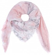 T-J6.2 S001-001 Square Scarf with Stars 140x140cm Pink